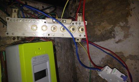 (Avant) Tableau électrique rénové à Tulle en Corrèze